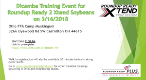 Dicamba Training Event for Roundup Ready 2 Xtend Soybeans 3/16/2018