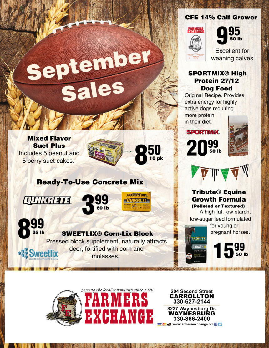 September 2019 Special Farmers Exchange