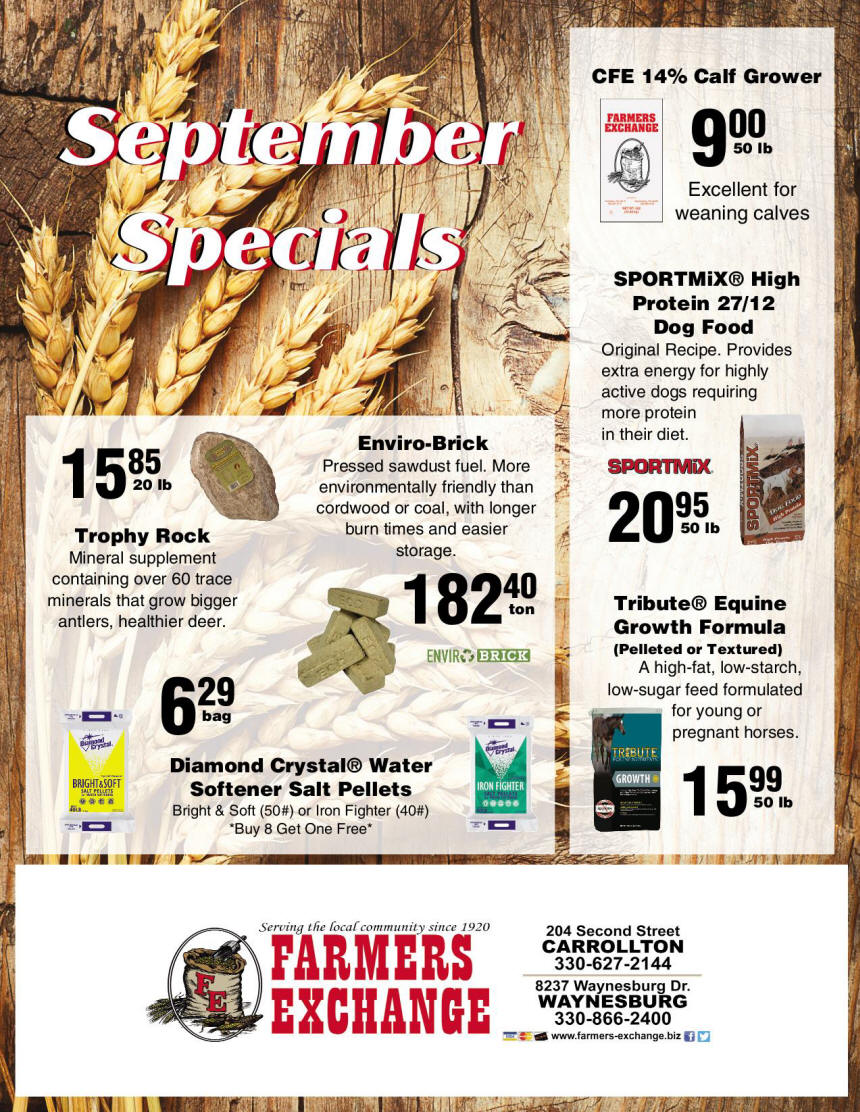 September 2020 Special Farmers Exchange